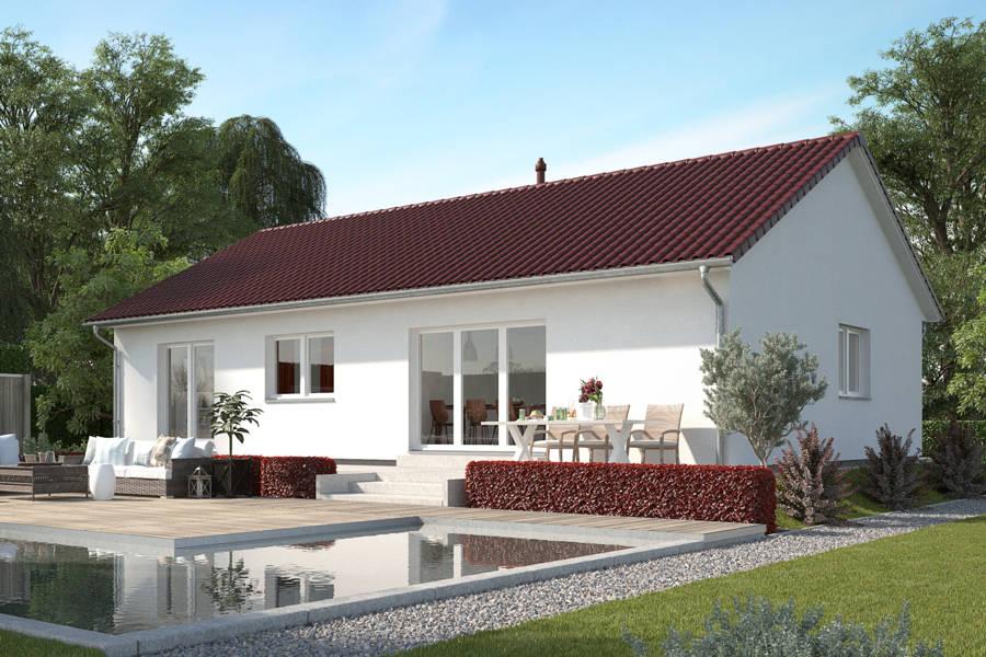 kleiner bungalow 100 qm grundriss massiv bauen in hannover. Black Bedroom Furniture Sets. Home Design Ideas