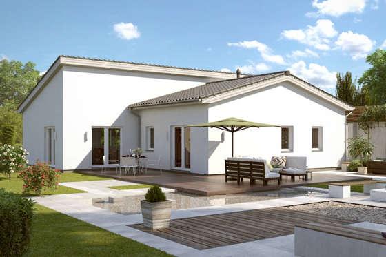 kleiner bungalow 100 qm grundriss massiv bauen in hannover hildesheim niedersachsen. Black Bedroom Furniture Sets. Home Design Ideas