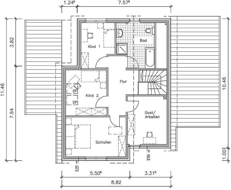 Studiohaus 146 Ein Pultdachhaus Grundriss Von Nurdahaus